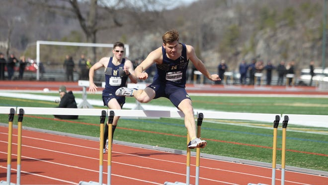 Flour Bluff grad and US Naval Academy freshman Clayton Thompson made the move to the 400-meter hurdles this track season and thrived.