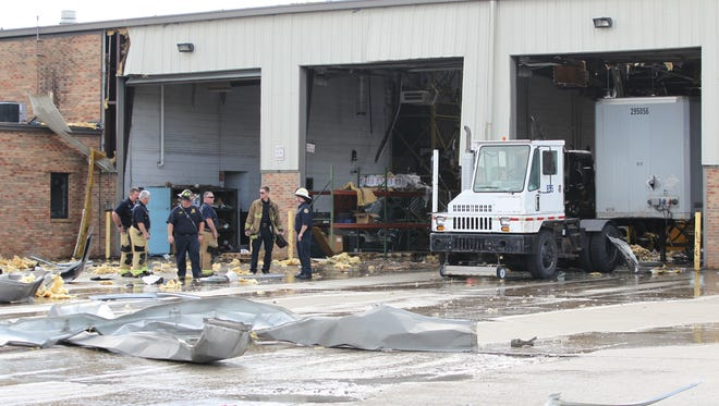 A propane tank reportedly exploded at a UPS facility in Lexington, Ky early Wednesday morning, according to police.
