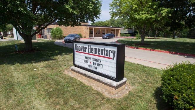 Herbert Hoover Elementary School is seen on Thursday, July 12, 2018, in Iowa City, Iowa.