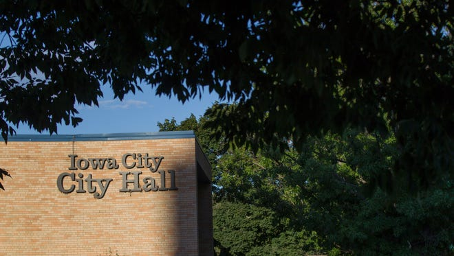 City Hall is seen on Tuesday, July 17, 2018, in Iowa City, Iowa.
