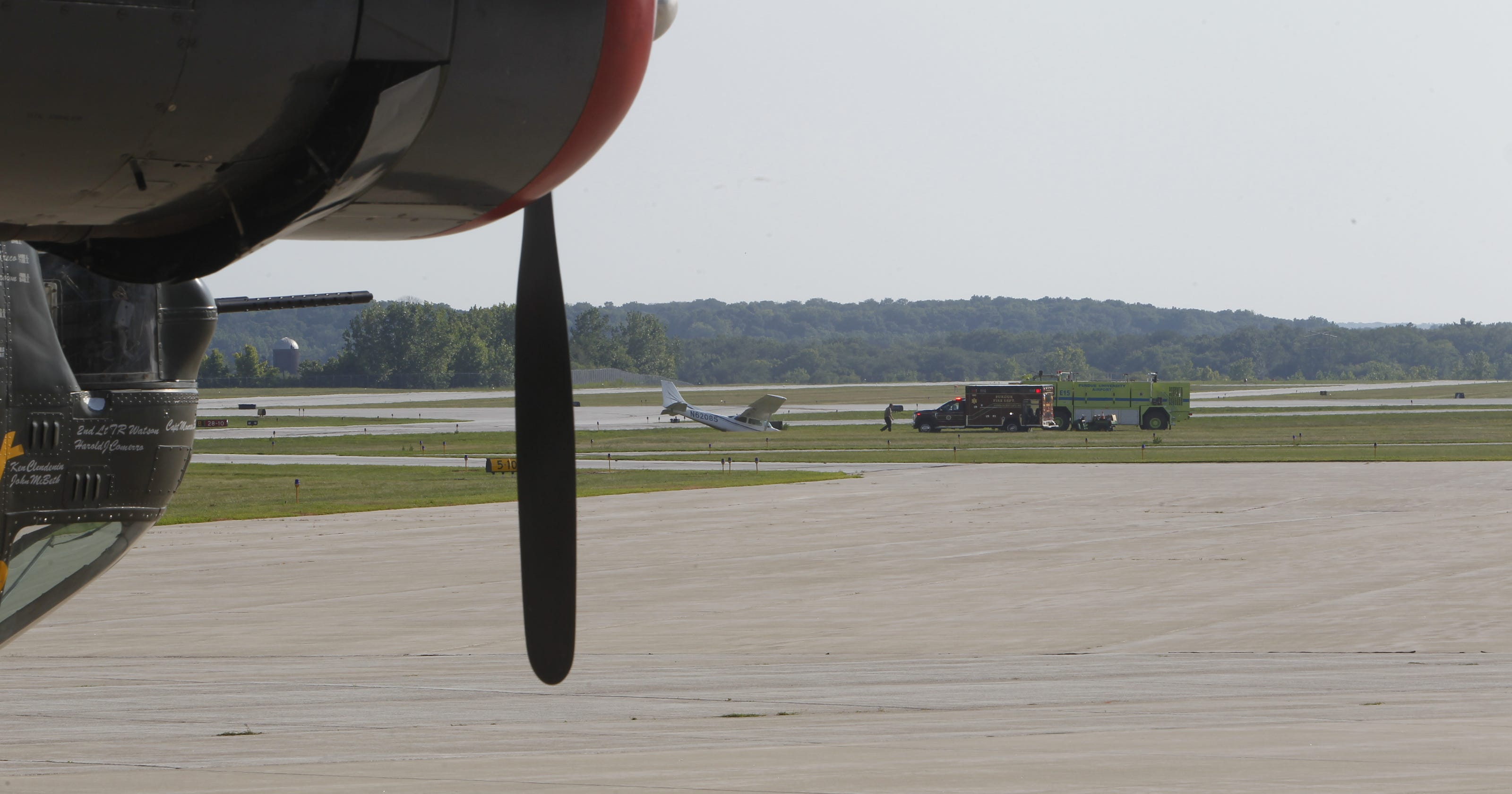 Plane crashes at Purdue Airport; pilot OK