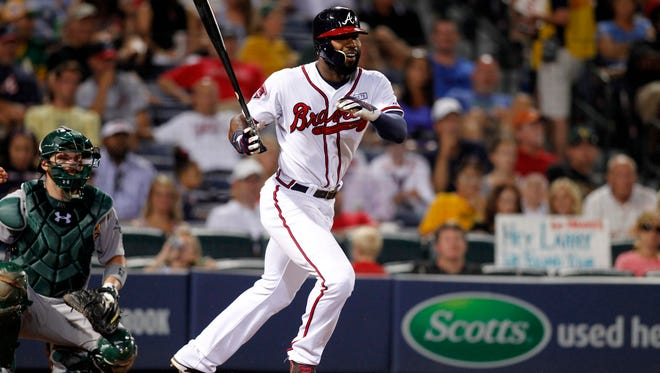 Braves right fielder Jason Heyward on Aug. 15.
