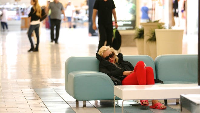 Amanda Bynes was caught sleeping inside the Beverly Center in the middle of the day.