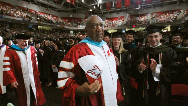 Bill Cosby attends Temple University's commencement in Philadelphia in May 2011.
