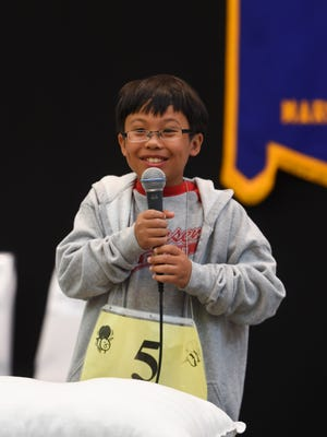This March 6, 2016, file photo shows Andersen Elementary School student Ramon Padua Jr., winner of the 2016 Scripps Spelling Bee Regional Competition at the Sheraton Laguna Guam Resort.