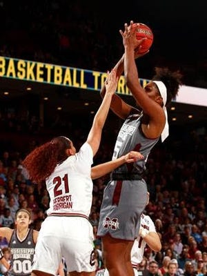 Teaira McCowan had 15 points and 12 rebounds off the bench for MSU.