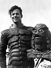 """Ricou Browning is shown on the set of """"The Creature From the Black Lagoon"""" when it was being shot at Wakulla Springs in 1953."""