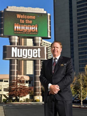 Nugget Casino Resort CEO Carlton Geer stands outside the casino resort on Nov. 13, 2015.