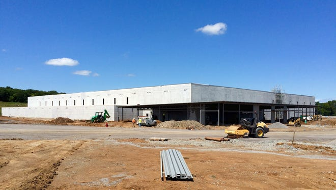 Beretta officials expect to have its Maryland manufacturing facility closed and all of its machines moved to Gallatin. The company's North American headquarters will remain in Maryland. This photo shows progress as of August 2015.