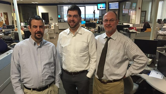 Democrat and Chronicle investigative reporters Sean Lahman, Justin Murphy and Steve Orr.