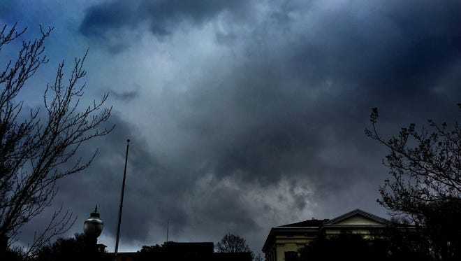 Storm clouds over Jackson, Miss.