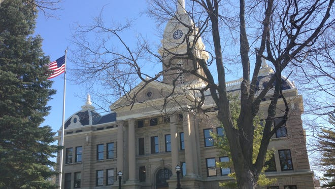 The Ingham County Courthouse in downtown Mason.