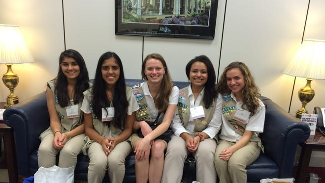 Nerys Muller of Vineland (second from right), was among the Gold Award Girl Scouts who represented Girl Scouts of Central & Southern New Jersey during a recent visit to Capitol Hill to celebrate the 100th anniversary of the Gold Award, the highest honor in Girl Scouts.