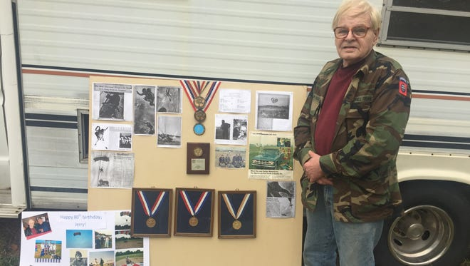 Jerry Marklin of Milford cancelled his final sky dive Sunday when Mother Nature refused to cooperate.