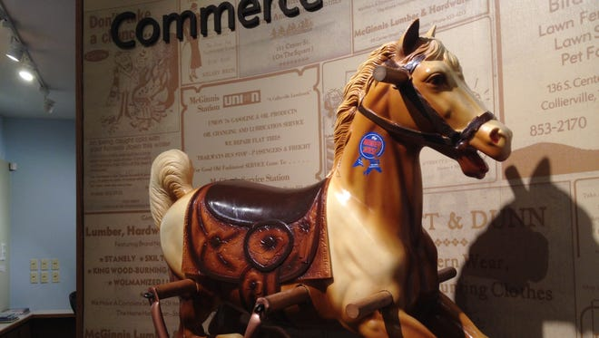 Collierville was once home to a factory that made Wonder Horse toys like this one. This exhibit is part of the museum's permanent collection, and a new traveling collection called Made In Tennessee offers a deeper look at the state's industrial history.
