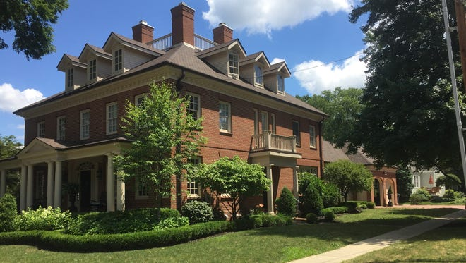 The new Denison University President's residence, located at the corner of West Broadway and South Mulberry Street.