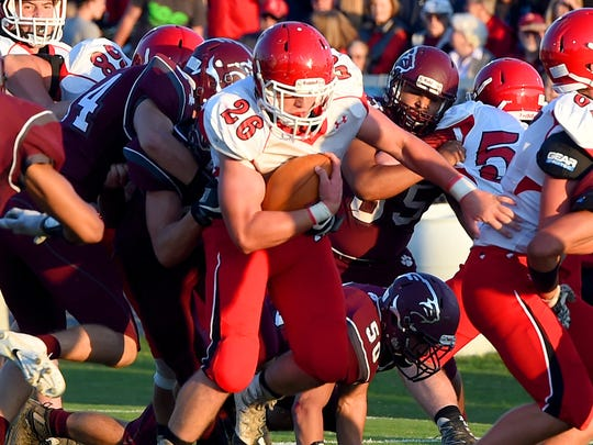 Riverheads' Dalton Jordan scored three TDs Friday in the Gladiators' 42-0 win over Wilson Memorial.