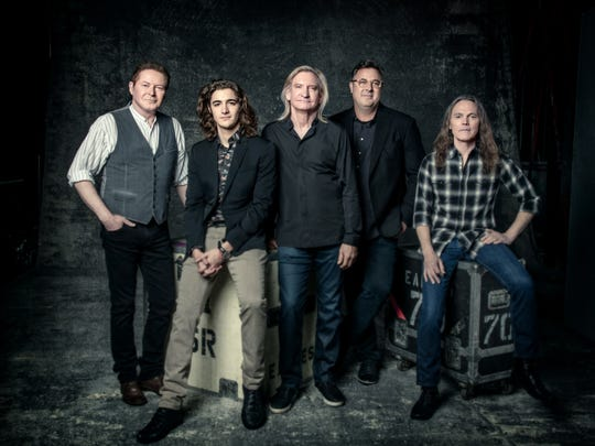 The Eagles' current lineup, from left: Don Henley, Deacon Frey, Joe Walsh, Vince Gill and Timothy B. Schmit.