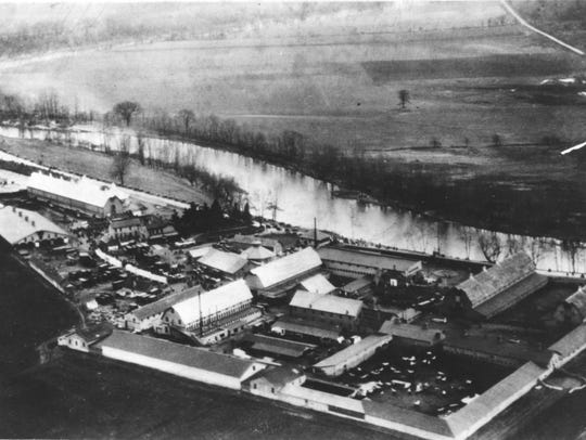 A 1920's aerial view of the Hagenbeck-Wallace Circus