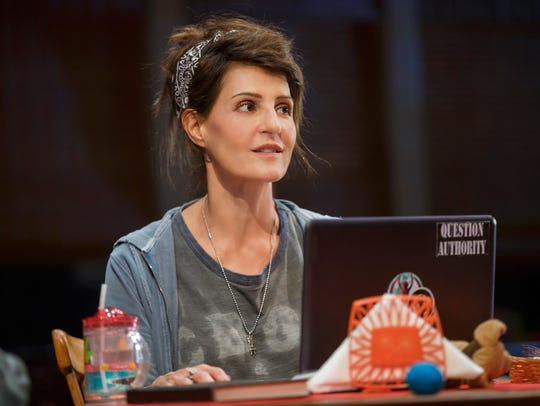 "Nia Vardalos in a scene from ""Tiny Beautiful Things."""