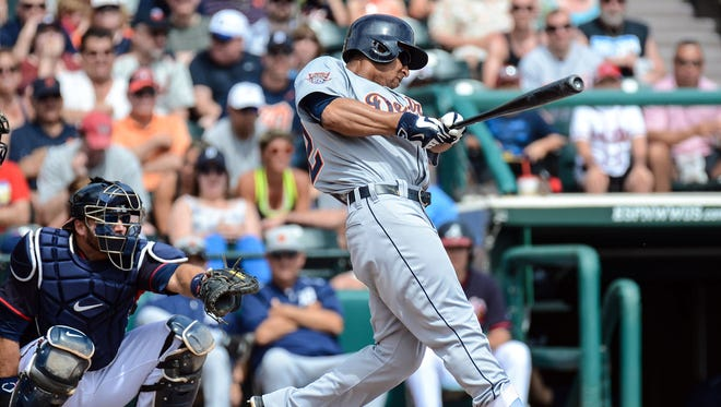 Anthony Gose tripled leading off Friday against the Braves. The centerfielder, a career .234 hitter, is batting .545 this spring.