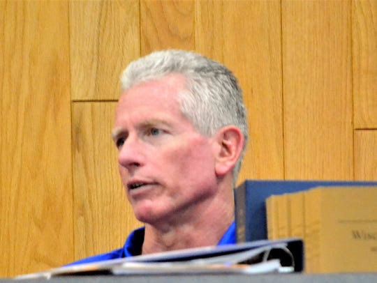 Frank Calvert speaks at the Oconto City Council meeting on July 10, 2018. Calvert, the city attorney, has also been the court commissioner for Oconto County, but resigned Dec. 20.