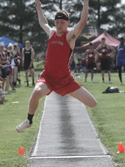 Harley Robinson will be looking to advance to the state tournament in the high jump and long jump this week in Tiffin.