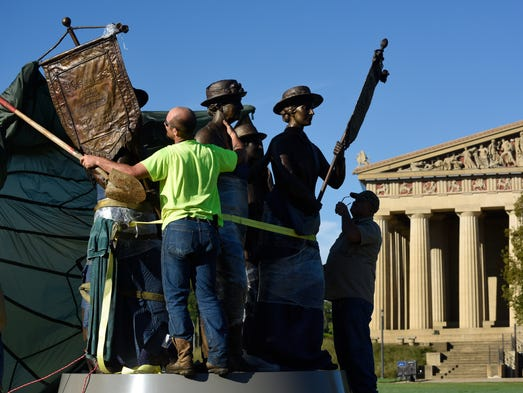 lequire women Nashville, tenn (bp)--a privately funded 40-foot-high bronze sculpture of five naked women and four naked men has been unveiled on public ground in nashville, tenn, and some are.