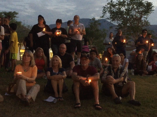 Community members gathered at the La Quinta 9/11 memorial Friday to light candles in remembrance of the attacks.