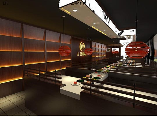 "Burlington Town Center mall owner Don Sinex describes a new restaurant coming to the mall as a ""high end sushi conveyor belt."""