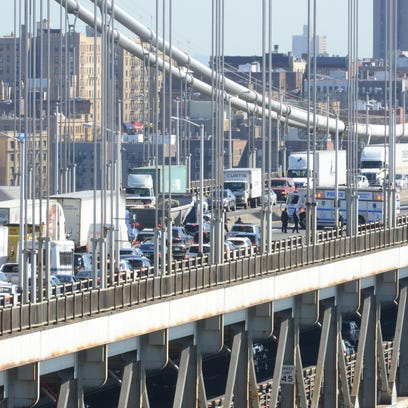 Emergency Personnel on the George Washington Bridge
