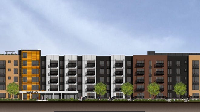 A Minnesota developer plans to build this $48 million apartment complex at Third and Market streets.