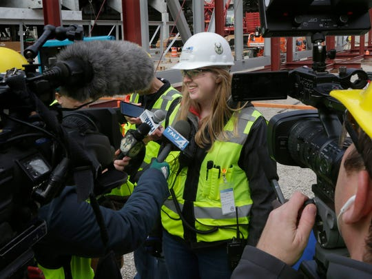 Ellen Becker, a project engineer with Mortenson Construction,