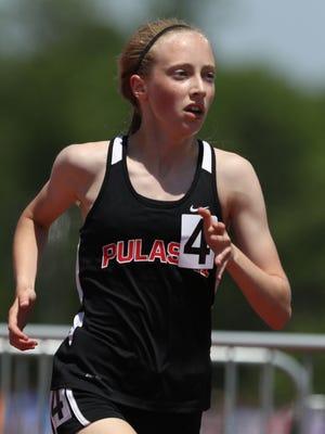 Pulaski's Annika Linzmeier has the area's fastest time in the girls 3,200-meter run this season.