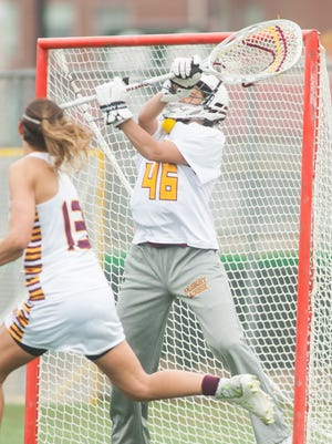 Sophomore goalkeeper Gianna Falcone (46) returns to anchor the Sea Gulls' defense in 2016.