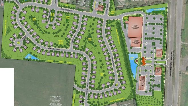 The development plan for Boyds Corner Farm calls for commercial property fronting DuPont Highway with homes filling in behind off Boyds Corner Road.