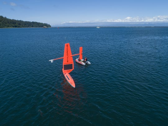 Five Saildrones will be launched on the West Coast