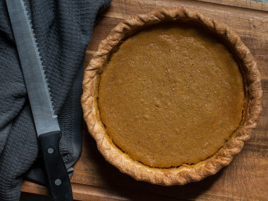 Bread Alone's pumpkin pie is made from three types