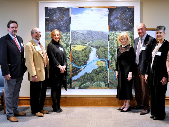 Celebrating the recent dedication of a new art quilt