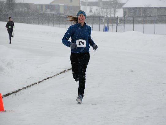 Jenny Fehn was the first woman to finish Saturday,