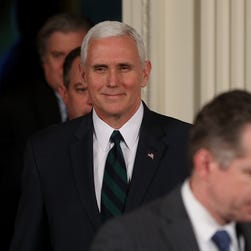 Vice President Mike Pence faces backlash for photo of Freedom Caucus meeting