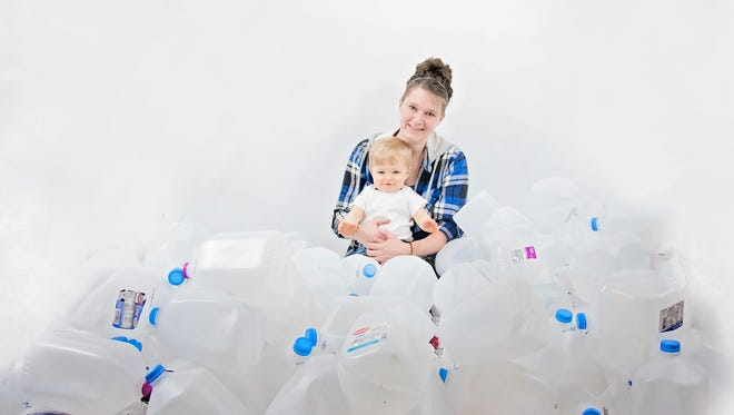 Christina Nichter, pictured with her son Jayden, donated 128 gallons of breast milk to other Montana moms.