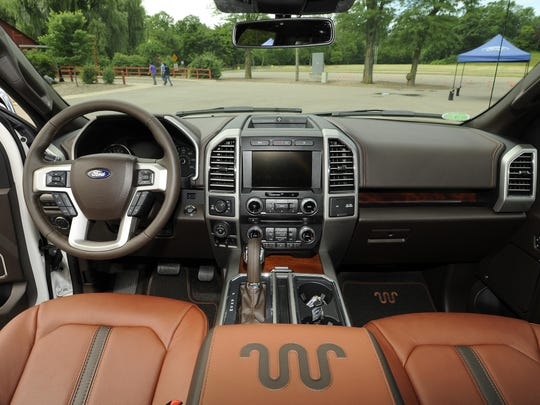 The interior of the F-150 King Ranch series.