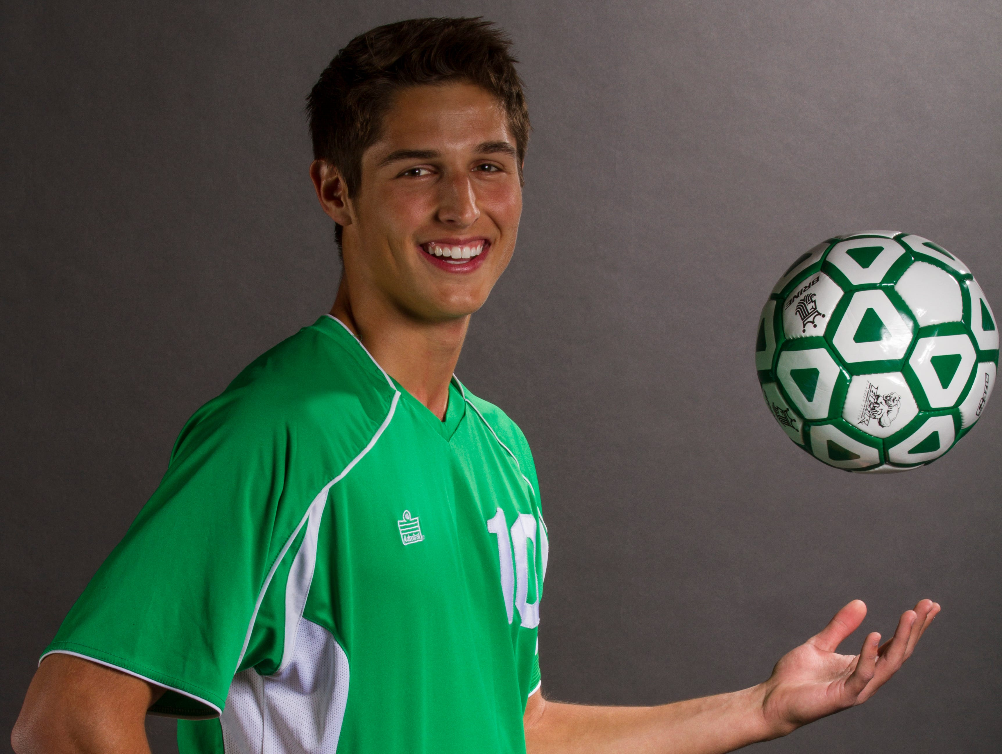 Adam Everett, 18, is a senior soccer player at Fort Myers High School.