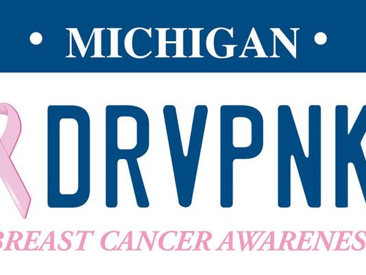 Michigan's new pink ribbon license plate supports breast cancer