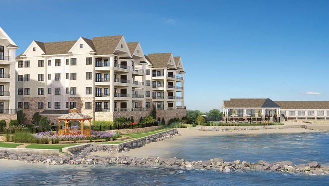 An artist rendering of WatermarkPointe, which will replace Beckwith Pointe Club on Davenport Neck in New Rochelle.