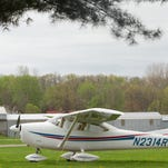 An airplane is shown in this file photo of the Brighton Airport on Hyne Road in Brighton Township.