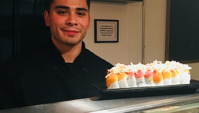 Mark Isaac, 26, is chef-owner of Cove Sushi on Mill Street. The restaurant opened in early January 2018 with prix fixe menus, not all-you-can-eat, the default sushi setting in Reno.