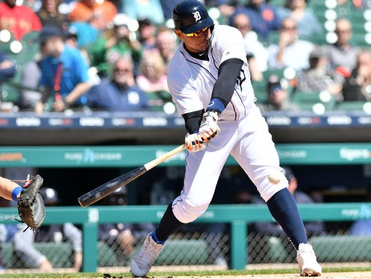 Tigers first baseman Miguel Cabrera is hitting .326