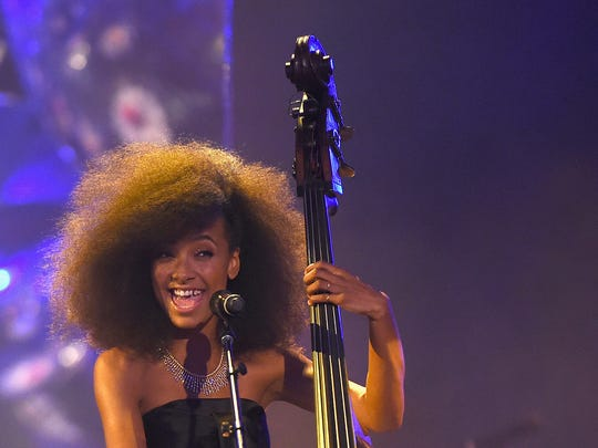 Esperanza Spalding performs at the Tiffany & Co. Blue Book Gala at The Cunard Building on April 15, 2016 in New York City.